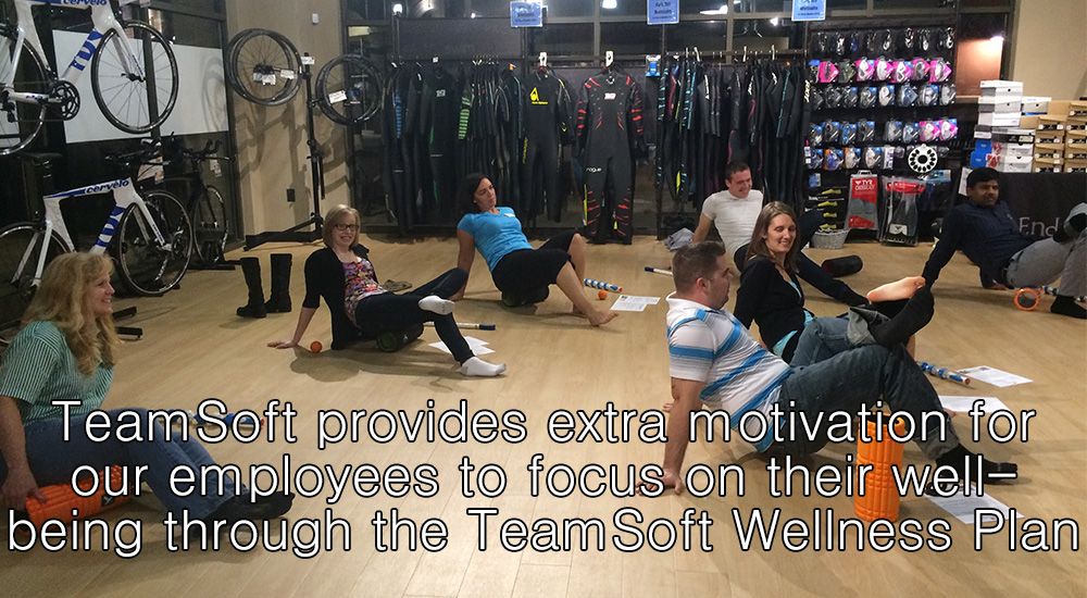 TeamSoft provides extra motivation for our employees to focus on their well being through TeamSofts Wellness Plan