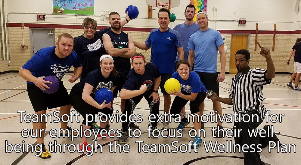 TeamSoft provides extra motivation for our employees to focus on their well being through the TeamSoft Wellness Plan