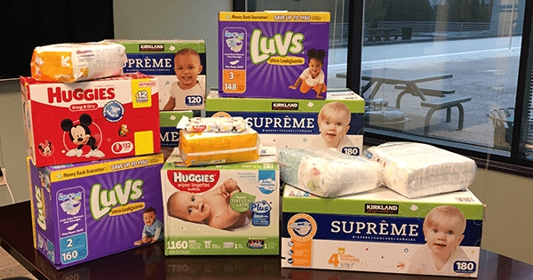 TeamSoft Collects Diapers & Baby Wipes for Sharing Wishes Families